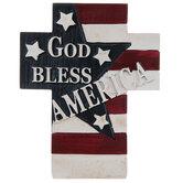 God Bless America Cross