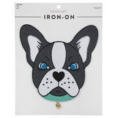 French Bull Dog Iron-On Applique