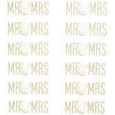 Gold Foil Mr. & Mrs. Stickers