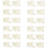 Gold Foil Mr. & Mrs. Stickers