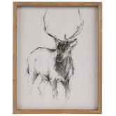 Sketched Deer Wood Wall Decor