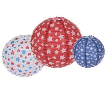 Patriotic Stars Paper Lanterns