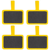 Yellow Chalkboard Clips