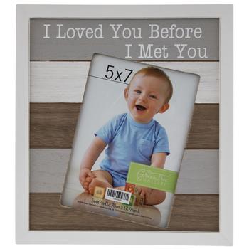 "I Loved You Before I Met You Wood Frame - 5"" x 7"""
