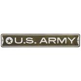 Green U.S. Army Rustic Metal Sign