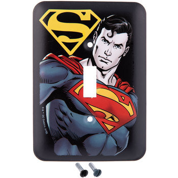 Superman Single Switch Plate