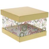 Joy Wreath Square Box