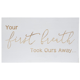 Your First Breath Wood Wall Decor