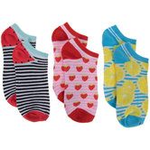 Low Cut Striped Fruit Socks