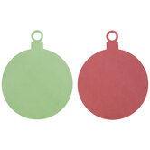Red & Green Paper Ornaments