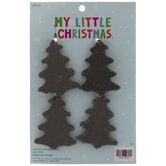 Mini Black Tree Ornaments