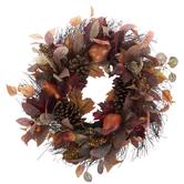 Fall Fruit & Leaf Wreath