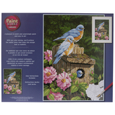 Garden Bluebirds Paint By Number Kit