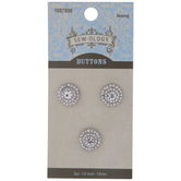 Rhinestone Cluster Shank Buttons - 13mm