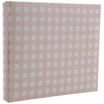 "Pink & White Buffalo Check Post Bound Scrapbook Album - 6"" x 6"""