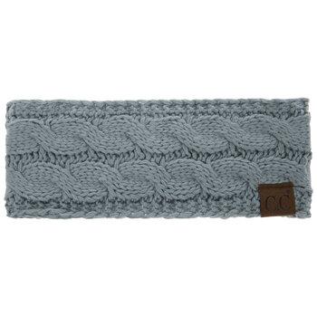 Winter Mint C.C Cable Knit Headband