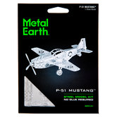 P-51 Mustang Metal Earth 3D Model Kit