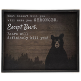 Except Bears Wood Wall Decor