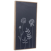 Navy & White Flowers Wood Wall Decor