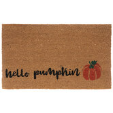 Hello Pumpkin Coir Doormat
