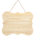 Wood Scroll Wall Decor with Jute