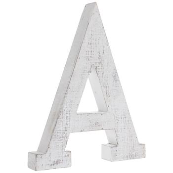 Whitewash Wood Letter Wall Decor
