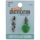Pom Pom & Cactus Lobster Clasp Charms