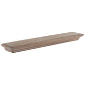 Brown Wood Wall Shelf