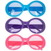 Pink, Purple & Blue Novelty Sunglasses