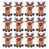 Reindeer & Santa Hat Foam Stickers