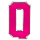 Pink Letter Metal Pin - Q