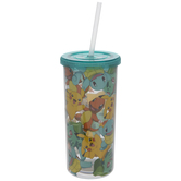 Pokemon Collage Cup With Straw