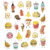 Food Foil Stickers