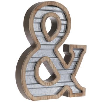 Galvanized Metal Symbol Wall Decor - &