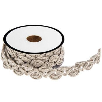 """Natural Linen Woven Trim - 9/16"""""""