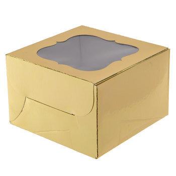Gold Foil Single Cupcake Boxes