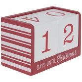Red Christmas Countdown Calendar