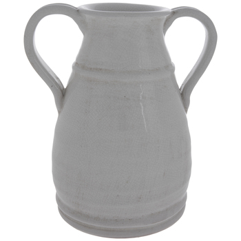 White Crackled Vase