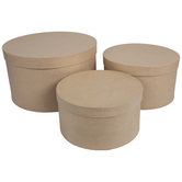 Round Paper Mache Boxes - Large