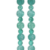 Teal Round Cracked Glass Bead Strands