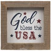 God Bless The USA Wood Wall Decor
