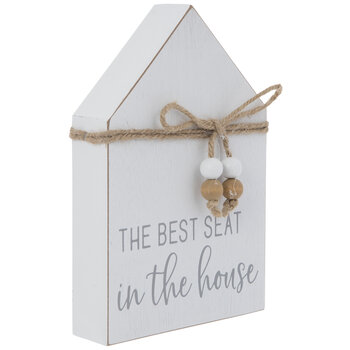The Best Seat In The House Wood Decor