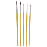 Camel Round Paint Brushes - 5 Piece Set