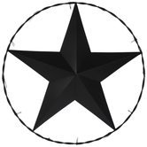 Barbed Wire Star Metal Wall Decor