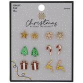Christmas Icons Enamel Earrings