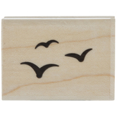 Flying Birds Silhouette Rubber Stamp