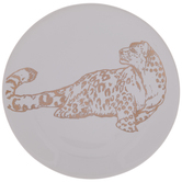 Gold Foil Leopard Dish