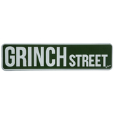 Grinch Street Metal Sign