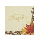 Happy Thanksgiving Foil Napkins - Small