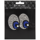 Rhinestone Eyes Iron-On Applique
